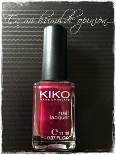 Esmalte de uñas (Nail Lacquer) 495 Pearly Vanda Burgundy Kiko