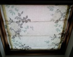 Step by Step - how to make roman blinds for attic window (velux)