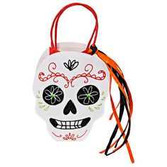 Meri Meri Sugar Skull Party Bag - Set of Eight Halloween Skull, Halloween Kids, Happy Halloween, Halloween Parties, Halloween Treat Bags, Halloween Party Supplies, Tea Party Decorations, Hen Party Accessories, Party Bags