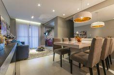 Resultado de imagem para sala de estar e jantar integradas apartamento pequeno