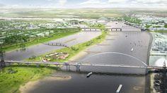 Project ruimte voor de Waal bij Nijmegen-Gereed in 2016
