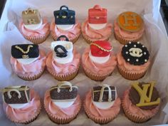 Designer Handbag Cupcakes And Toppers In The Style Of Chanel Louisvuitton