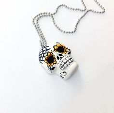 Sugar Skull Sugar Skull Necklace dia de los by PiperPixieDesigns, $30.00