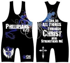 Philippians 4:13 Blue/Black Wrestling Singlet, by 4-Time, size 2XS by 4-Time All American, http://www.amazon.com/dp/B00AERZPE0/ref=cm_sw_r_pi_dp_u5fWqb1444BMT