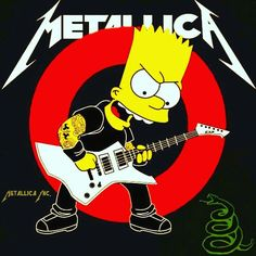 Metallica (The Simpsons) Heavy Metal Rock, Heavy Metal Music, Heavy Metal Bands, Metallica Tattoo, Metallica Art, Music Artwork, Art Music, Music Artists, Hard Rock