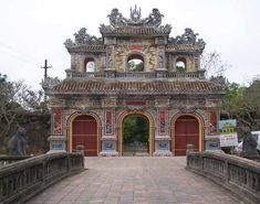 The Citadel in the Forbidden Purple City in Hue Vietnam. So beautiful and so full of history I love it!