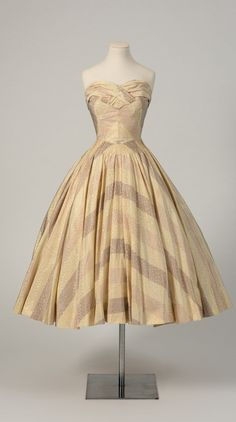 "Dress from Christian Dior's ""Rose Pompon"" collection, 1952. Worn by Princess Margaret. Collection of Fashion Museum Bath."