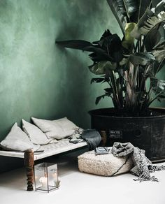 5 ways to apply a boho style in your interior - Roomed - A bohemian interior: who wouldn& want that? Even in a minimalist or industrial interior, a li - Cafe Interior, Room Interior, Interior Paint, Room Inspiration, Interior Inspiration, Interior Ideas, Tadelakt, Bohemian Interior, Scandinavian Interior