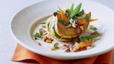 Basmati and Wild Rice over Acorn Squash with Braised Vegetables