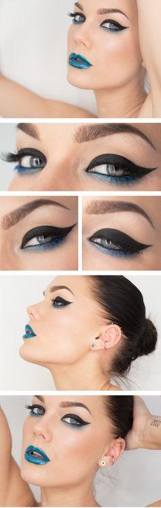 I Love The Eyes But I Don't Think I'd Do The Blue Lipstick