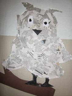 Kaarisillan kuvataide: Sanomalehtiviikon satoa Bird Crafts, Fall Crafts, Crafts To Make, Crafts For Kids, Arts And Crafts, School Art Projects, Projects For Kids, Newspaper Crafts, Kindergarten Art