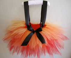 Fire Fighter Tutu Costume with Suspenders Red by jessicakertel1