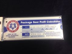 Vintage Pabst Blue Ribbon Beer Draft Profit Calculator #cjbeez #taphandle #mancave #bar #pub #breweriana #beer