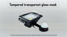 Tempered transparent glass mask  Color changing LED flood light  RGB covered by tempered transparent glass mark for arbitrarily light's transmission and lamp's shockproof