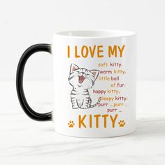 Color Changing Ceramic Coffee Mug – with Cats!
