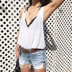 42 Fashion-Girl Ways to Style a White Tee: A white tee is that basic piece that every woman owns, but could you wear one every day?