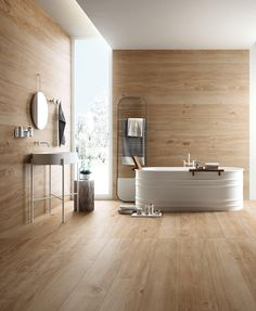 Can you tell I'm obsessed with bathrooms lately? Well in this perfect looking one not all is what is seems (as in life...let's not go there). The floors and walls are wood effect tiles ... (via # @francesca_castelnautiles) #woodeffecttiles #woodporcelain #bathroom #bathroomgoals #bathroomdecor #scandinaviandesign #scandi #scandinavianbathroom #modern #minimalist #tiles #tilelove #tileflooring #tilewall #tileshop #BAinspo #beautyairlines