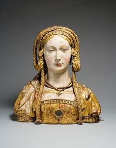 Reliquary Bust of Saint Balbina, ca. 1520–30. Made in possibly Brussels, Belgium