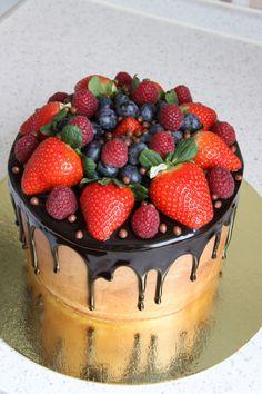 Украшение тортов кремом,шоколадом, фруктами - Сообщество «Кондитерская» - Babyblog.ru - стр. 223