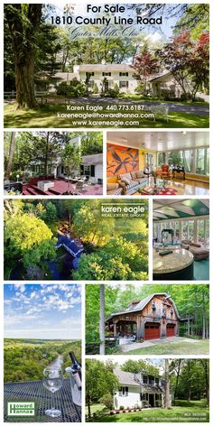 NEW LISTING in Gates Mills,  Ohio on over 16 acres of land, this mini-estate has unobstructed, breath taking views of the Chagrin Valley that cannot be found anywhere else. Simply amazing. On the property is a century home with great potential and fantastic views, a caretaker's cottage, and a large shed / garage / storage / outbuilding that has multi function use. Waterfall views, rock formations -- truly an outdoor playground! $1,695,000  (440) 773-6187