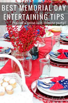 Here are some of the best tips on pulling off a Memorial Day party. Even if you are planning a last-minute Memorial Day party, these tips are for you! Fourth Of July Crafts For Kids, Fourth Of July Food, 4th Of July Party, July 4th, Memorial Day Foods, Memorial Weekend, Patriotic Desserts, Patriotic Party, Steps In Planning