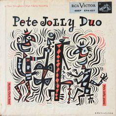 Pete Jolly Duo album cover. Artwork by Jim Flora.