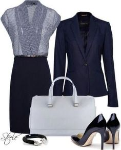 Navy is a great alternative to black, but still just as professional. by kathleen