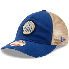 check out abc12 35ad7 Men s Seattle Mariners New Era Royal Cooperstown Collection Front Patched  Trucker 9TWENTY Adjustable Hat,  23.99
