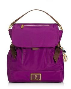 "Juicy Couture: ""Daydreamer Rucksack"" I would love this for school but it probably wont be big enough :( School Accessories, Pocket Books, Cute Backpacks, Cute Bags, Briefcase, Purses And Handbags, Travel Bags, Juicy Couture, Purple"
