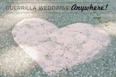 Flour hearts- cute touch if someone was willing to do it- even found sky blue powdered food coloring on amazon.com.