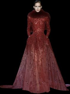ELIE SAAB - Haute Couture - Fall Winter 2014-2015. I'd like without the fur.
