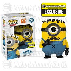 Limited Edition Funko POP Movies Despicable Me: Carl Vinyl Figure Mustache