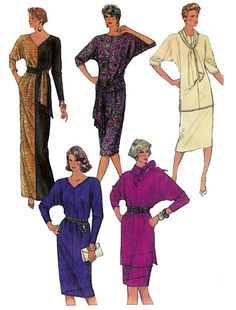 80s sewing pattern Simplicity 7590 Batwing by allthepreciousthings, $14.00