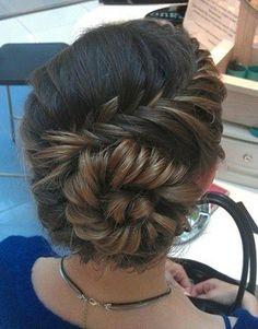 braid into bun beauty