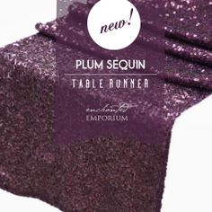 Delicieux Plum / Dark Purple / Eggplant Sequin Table Runner Hire Http://enchanted