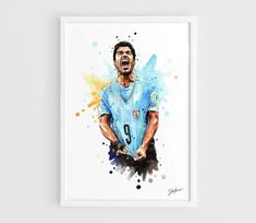 Luis Suarez Uruguay national football team FIFA World by NazarArt