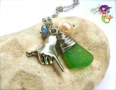 Sea Glass Jewelry from Hawaii Hawaiian by MermaidTearsDesigns, $26.00
