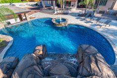 Freeform and Natural Swimming Pool Designs — Presidential Pools, Spas & Patio of Arizona Swimming Pool Photos, Natural Swimming Pools, Swimming Pool Designs, Natural Pools, Small Inground Pool, Pool Decks, Small Pools, Geometric Pool, Piscina Interior