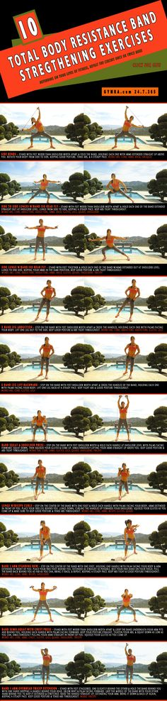 Total Body Resistance Band #Workout. Slash major calories and sculpt from head to toe with these strengthening exercises. #fitness #exercise