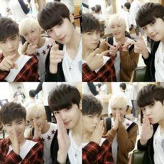 Rocky, JinJin and Eunwoo