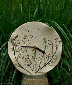 Zegar ceramiczny kwiaty polne. $41