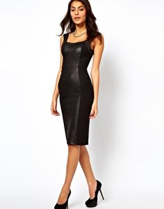 Enlarge ASOS Body-Conscious Dress With High Shine Panels
