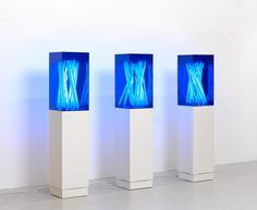 Jonathan Jones Blue poles