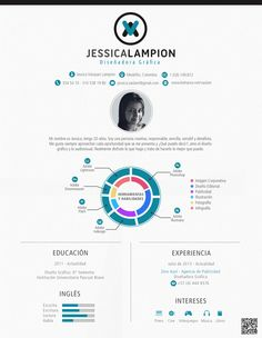 Curriculum Vitae / Hoja de Vida by Jessica Vásquez Lampion, via Behance
