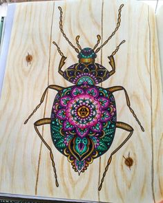 Done with the big beetle! Was not completely happy with my color choices when I…