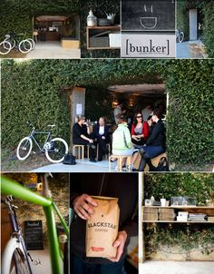 Bunker - Coffee Shop located in Milton Cafe Design, Store Design, My Coffee Shop, Coffee Shops, Cafe Concept, Bomb Shelter, Café Bar, Cafe Bistro, Cafe Shop