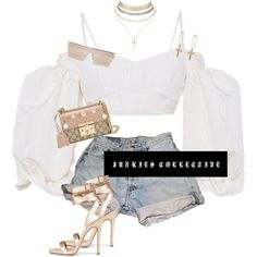 Apr 2020 - A fashion look from June 2017 by junkiescollective featuring Alessandra Rich, Levi's, Gucci, Charlotte Russe and RetroSuperFuture Baddie Outfits Casual, Cute Swag Outfits, Cute Comfy Outfits, Kpop Fashion Outfits, Girls Fashion Clothes, Retro Outfits, Simple Outfits, Classy Outfits, Stylish Outfits
