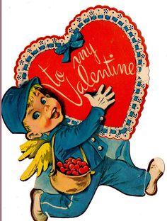 Boy with valentine heart