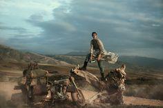 Stardust, Peter Lindbergh | Edie Campbell, Otis Ferry, American Vogue 2013 | Grace Coddington, Jimmy Paul, Stéphane Marais | Morocco