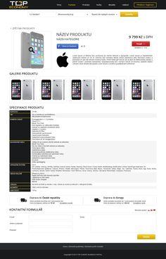 TOP ECONOMY web design.